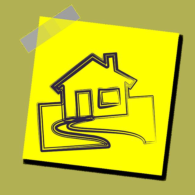 House on sticky note